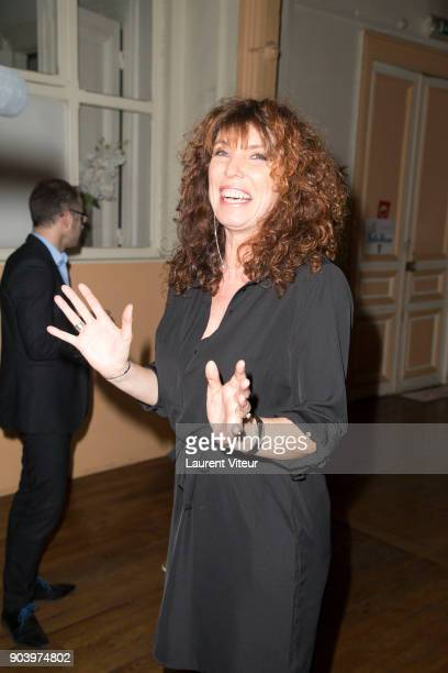 Singer and Actress Marion Posta attends 'Enooormes' Paris Premiere at Theater Trevise on January 12 2018 in Paris France