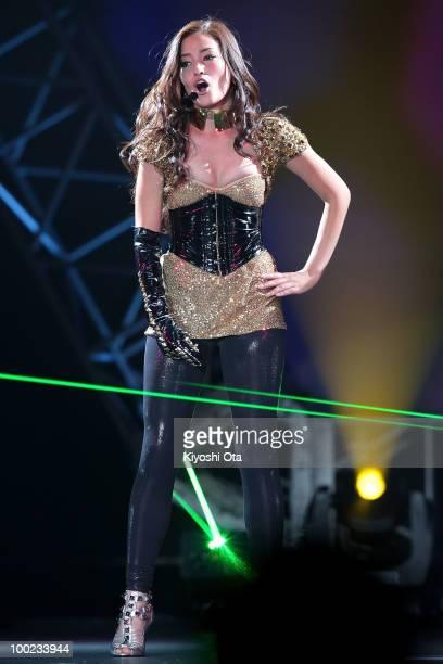 Singer and actress Meisa Kuroki performs during the Girls Award 2010 at Yoyogi National Gymnasium on May 22 2010 in Tokyo Japan