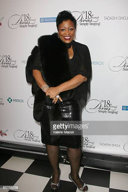Singer and Actress Miki Howard arrives at the 18th Annual Divas Simply Singing at the Wilshire Theater on October 11 2008 in Beverly Hills California