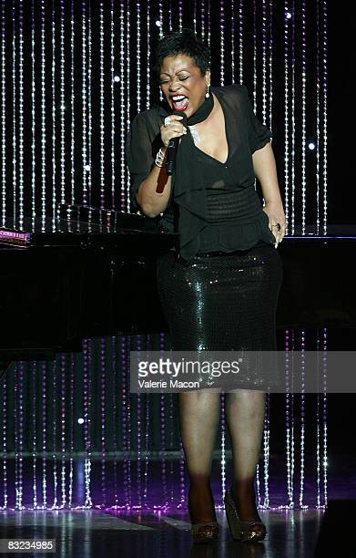 Singer and Actress Miki Howard performs at the 18th Annual Divas Simply Singing at the Wilshire Theater on October 11 2008 in Beverly Hills California