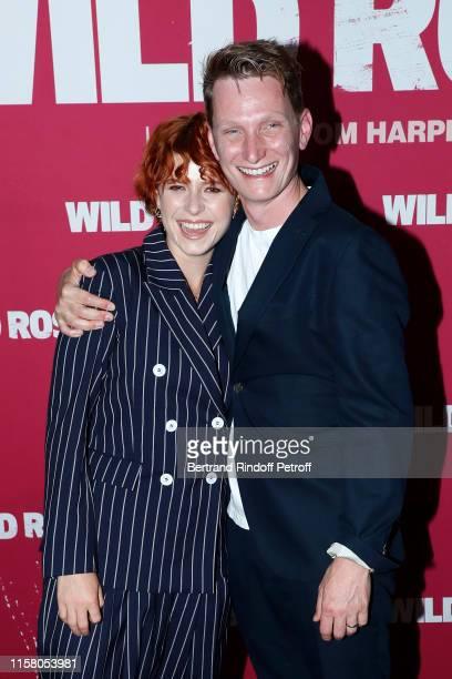 Singer and actress of the movie Jessie Buckley and director of the movie Tom Harper attend the Wild Rose Paris Premiere at UGC Cine Cite des Halles...