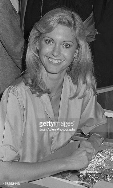 Singer and actress Olivia NewtonJohn attends the dance rehearsal for Twyla Tharp ballet 'When Push Comes to Shove' featuring Dancer/Choreographer...