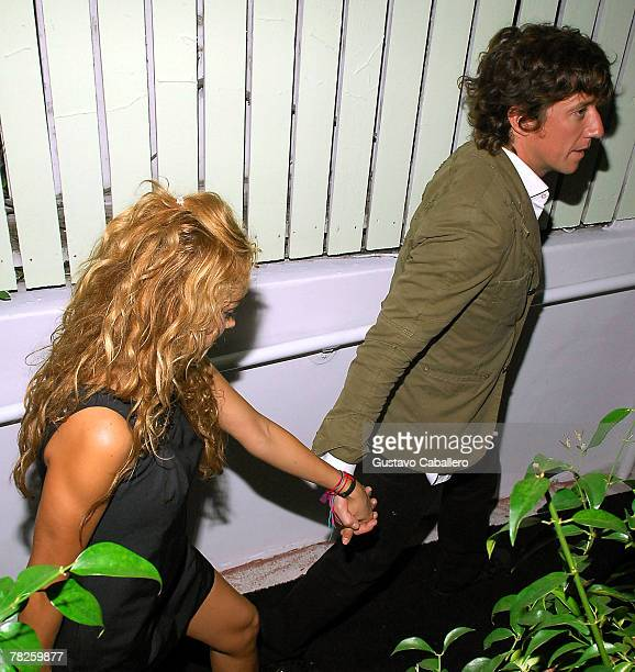 Singer and actress Paulina Rubio and her husband Ricardo Bofill Jr leave the opening of The Florida Room at The Delano Hotel on December 4 2007 in...
