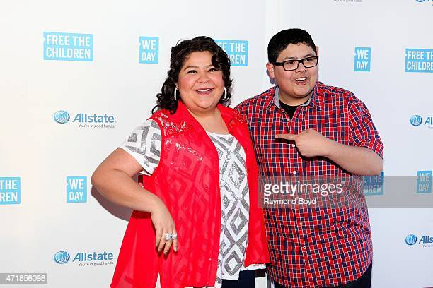 "Singer and actress Raini Rodriguez from the television show ""Austin & Ally"", and her brother actor Rico Rodriguez from the television show ""Modern..."