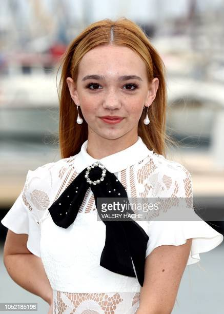 US singer and actress Ruby Jay poses during a photocall for a TV serie Holly Hobbie as part of the MIPCOM the world's biggest television and...