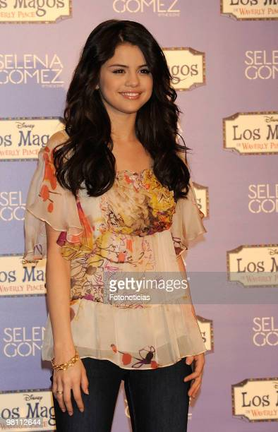 Singer and actress Selena Gomez presents her new album 'KISS & TELL' at Disney Channel on March 29, 2010 in Madrid, Spain.