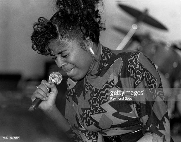 Singer and actress Shanice performs at Navy Pier in Chicago Illinois in January 1988
