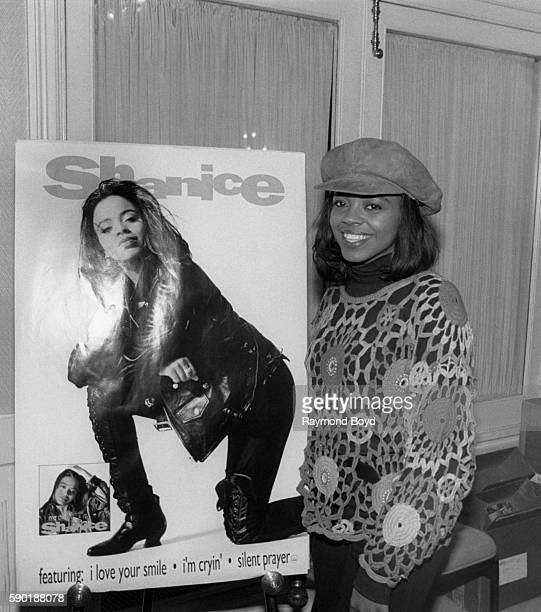 Singer and actress Shanice poses for photos at WGCIFM radio in Chicago Illinois in January 1992