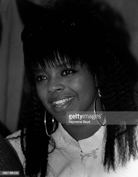 Singer and actress Shanice poses for photos backstage at the Park West Theater in Chicago Illinois in January 1988