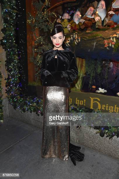 Singer and actress Sofia Carson attends the 2017 Saks Fifth Avenue Disney Once Upon a Holiday windows unveiling at Saks Fifth Avenue on November 20...