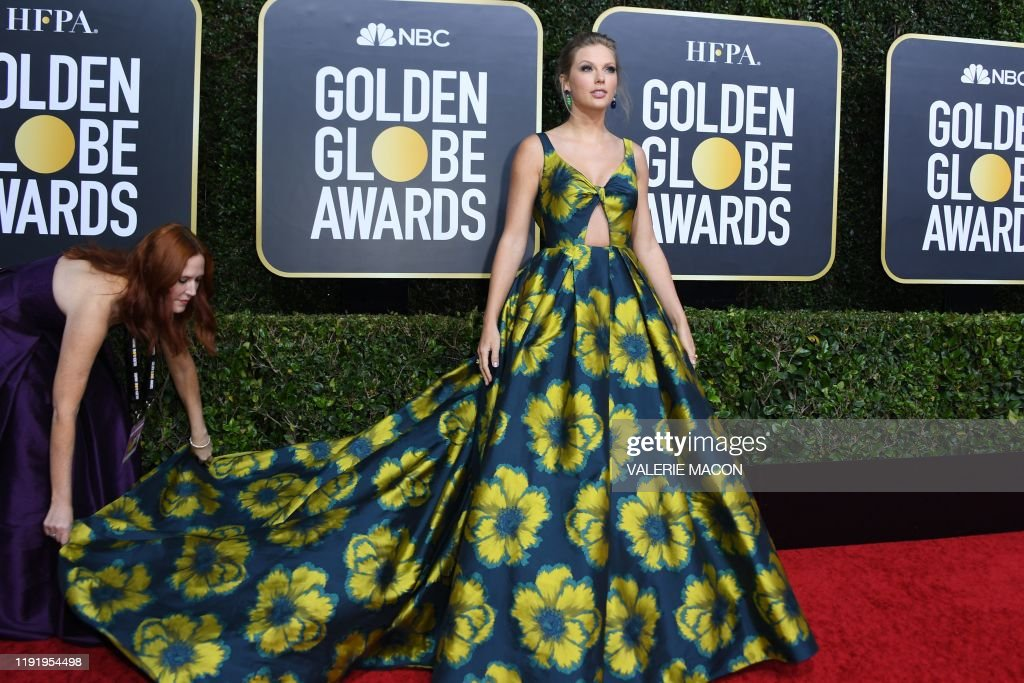 US-ENTERTAINMENT-FILM-TELEVISION-GOLDEN-GLOBES-ARRIVALS : News Photo