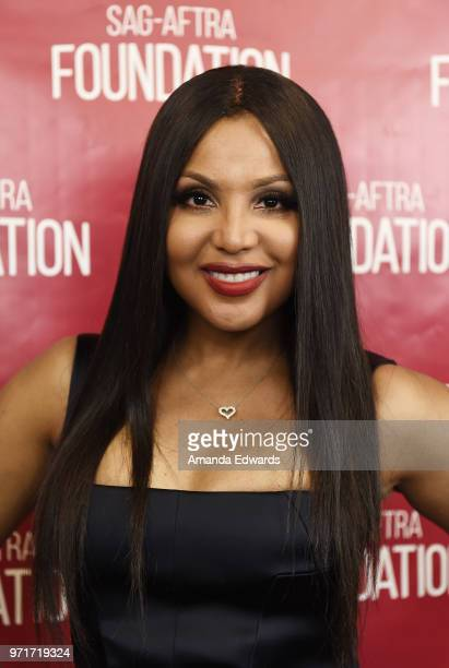 "Singer and actress Toni Braxton attends the SAG-AFTRA Foundation Conversations screening and Q&A of ""Faith Under Fire"" at the SAG-AFTRA Foundation..."