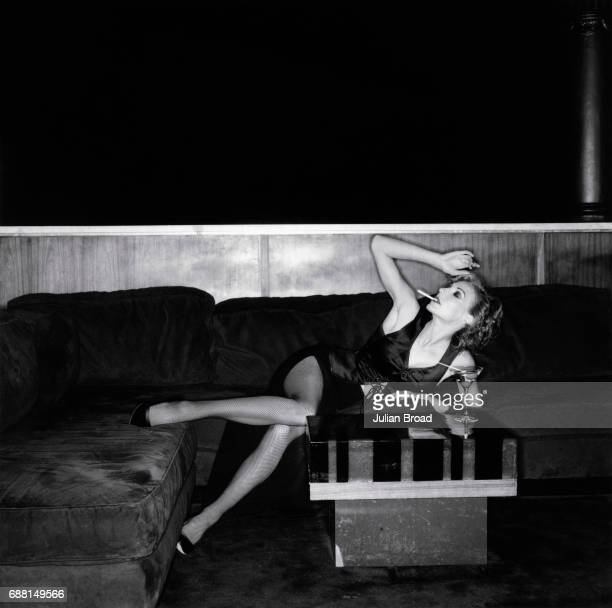 Singer and actress Ute Lemper is photographed in London, England.