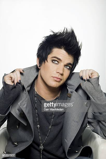 Singer and American Idol runnerup Adam Lambert poses for a portrait at the 19 Entertainment headquarters in West Hollywood CA