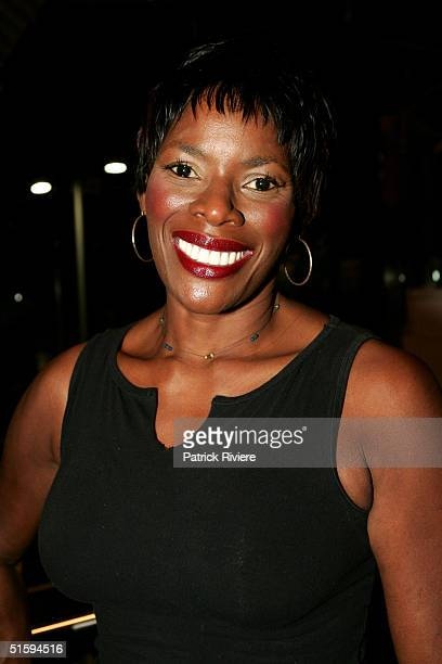 Singer and Australian Idol judge Marcia Hines attends the after party for the opening night of the play '12 Angry Men' at the Sydney Theatre on...