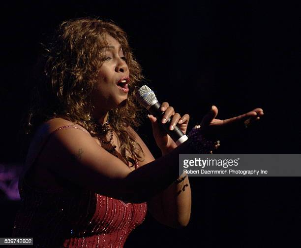 Singer and author Mary Wilson an original member of the legendary Supremes sings for an executive audience at the Bob Bullock Texas History Museum...
