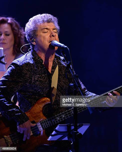 Singer and bass player Joe Puerta of Ambrosia performs during his appearance at the weSpark Cancer Support Center Benefit Concert 'An Evening with...