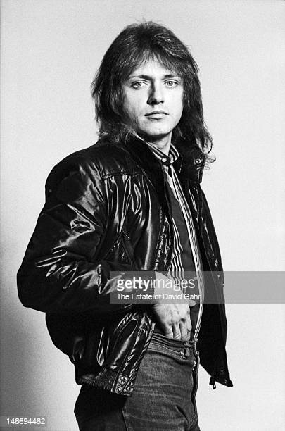 Singer and bassist Benjamin Orr of the rock group The Cars pose for a portrait in March 1980 during a recording session in Boston Massachusetts