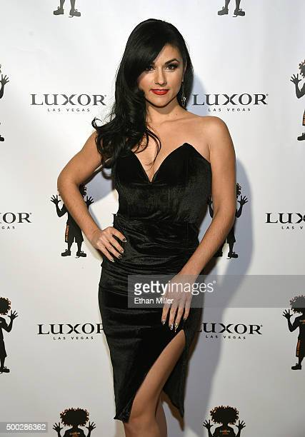 Singer and burlesque dancer Melody Sweets from the show Absinthe attends the 10th anniversary celebration of Carrot Top's residency at the Luxor...