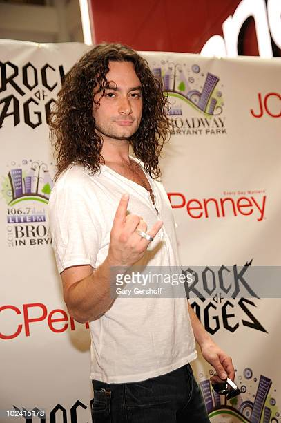 Singer and cast member of the Broadway show Rock Of Ages Constantine Marsoulis attends the 2010 Broadway in Bryant Park series kick off at JCPenney...