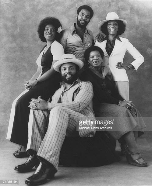 Singer and composer Andrae Crouch pose for a portrait with his group 'Andrae Crouch and the Disciples' in circa 1976