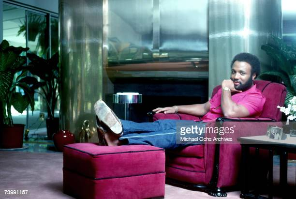 Singer and composer Andrae Crouch poses for a portrait at his home in October 1982
