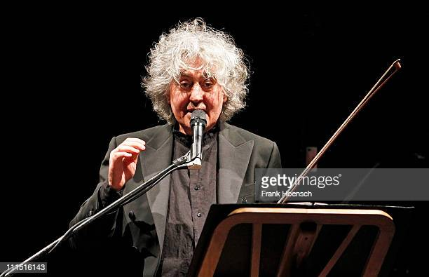 Singer and composer Angelo Branduardi performs live during a concert at the Friedrichstadtpalast on April 4 2011 in Berlin Germany