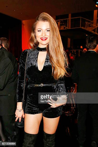 Singer and daughter of Juergen Drews Joelina Drews attends the aftershow party during the 23rd Opera Gala at Deutsche Oper Berlin on November 5 2016...