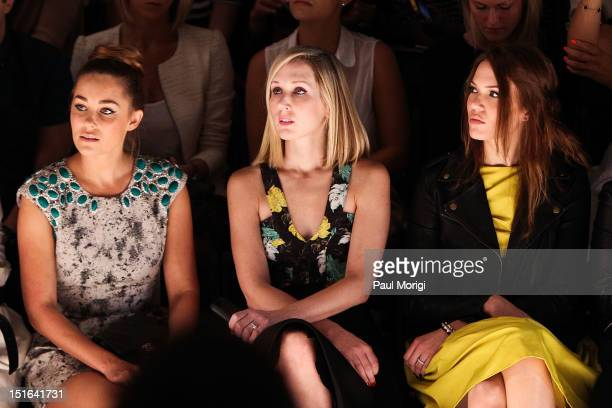 Singer and designer Mandy Moore attends the Lela Rose show during Spring 2013 MercedesBenz Fashion Week at The Studio Lincoln Center on September 9...