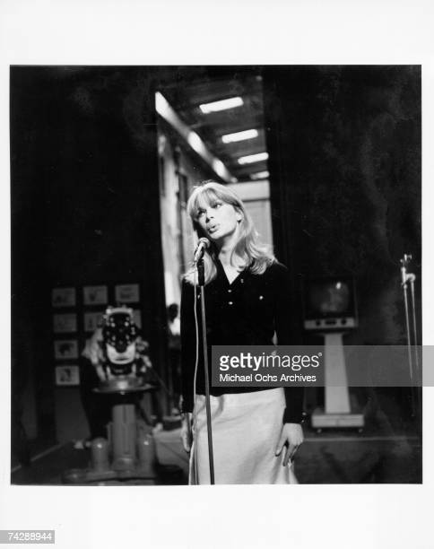 Singer and entertainer Nico performs on a TV show in circa 1968