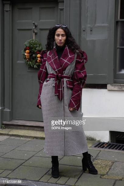 Singer and fashionista Ciinderella Balthazar attends the London Fashion Week Men's Day two Street Style.