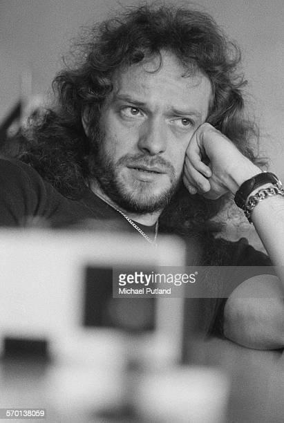 Singer and flautist Ian Anderson of British rock group Jethro Tull London June 1976
