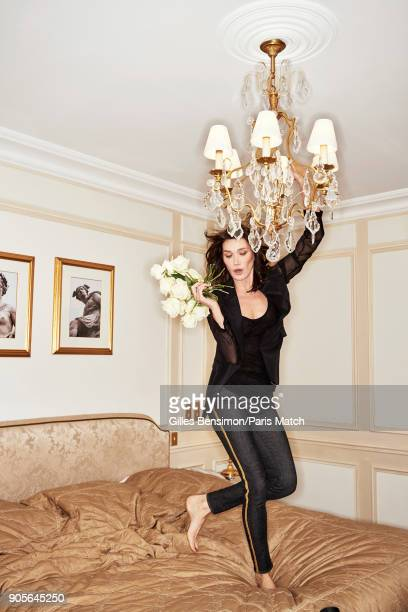 Singer and former model Carla BruniSarkozy is photographed for Paris Match on December 19 2017 in Paris France