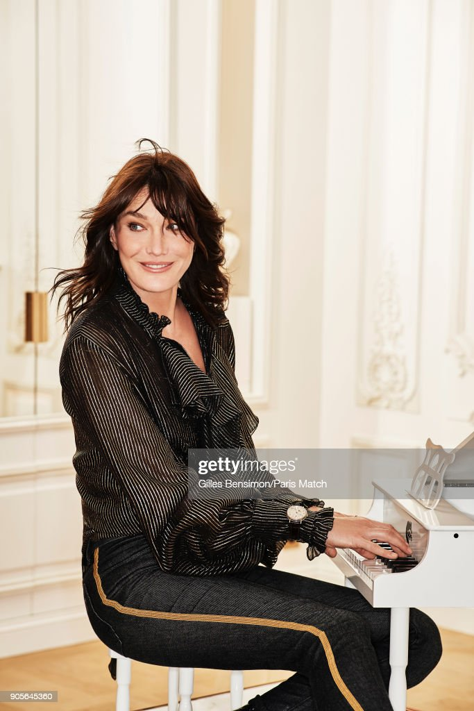 Carla Bruni, Paris Match Issue 3582, January 10, 2018
