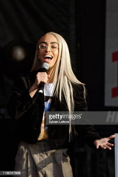 Singer and France's candidate for next Eurovision song contest Bilal Hassani performs live onstage for launching of local guide of Lille Le Chti with...
