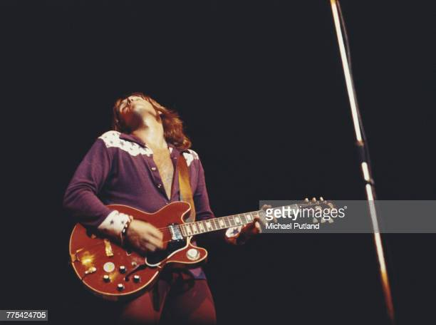 Singer and guitarist Alvin Lee of English bluesrock band Ten Years After in concert at the London Coliseum 19th September 1971