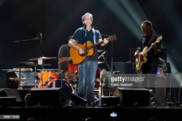 Singer and guitarist Eric Clapton performs live during a concert at the O2 World on May 30 2013 in Berlin Germany