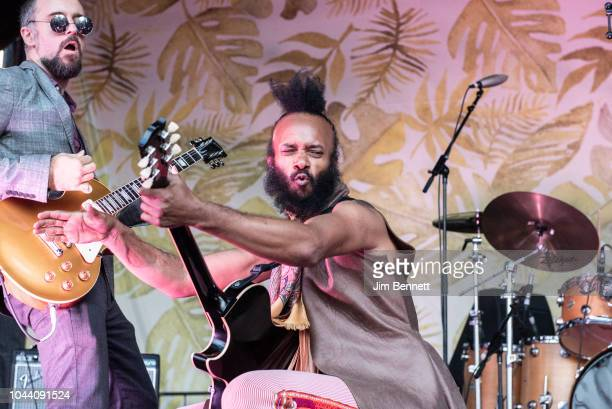 Singer and guitarist Fantastic Negrito performs live on stage during Ohana Festival at Doheny State Beach on September 30 2018 in Dana Point...