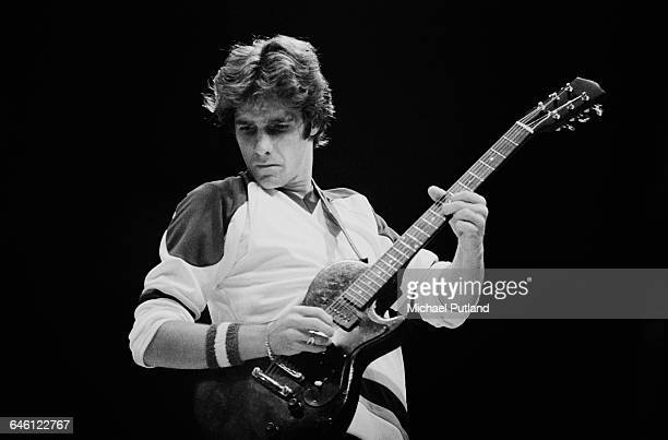Singer and guitarist Glenn Frey performing with American rock group The Eagles USA November 1979