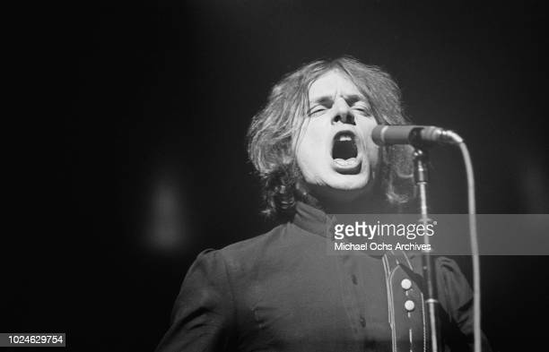 Singer and guitarist Jack Bruce of British rock band Cream in concert in Madison Square Garden New York City 2nd November 1968