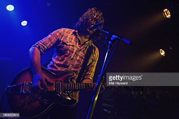 Singer and guitarist Joel Schneider of My Goodness performs on stage at the Crocodile on September 17 2013 in Seattle Washington