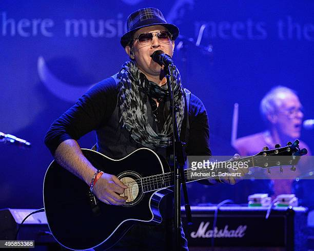 Singer and guitarist Ken Stacey of Ambrosia performs during his appearance at the weSpark Cancer Support Center Benefit Concert 'An Evening with...