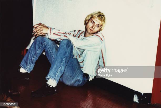 Singer and guitarist Kurt Cobain of American rock group Nirvana Belfast 1992