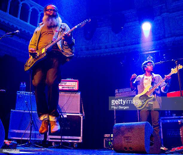 Singer and guitarist Kyp Malone of American indie rock band TV On The Radio performs on stage at Paradiso Paradiso Amsterdam Netherlands 24 August...