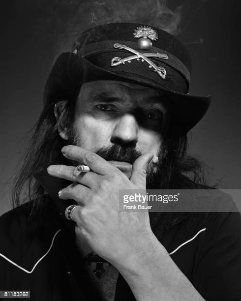 Singer and guitarist Lemmy with heavy metal band Motorhead poses for a portrait shoot in Munich for Sueddeutsche Zeitung magazine on December 7, 2006.