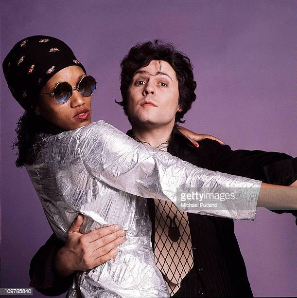 Singer and guitarist Marc Bolan of TRex with his girlfriend Gloria Jones London 18th June 1976 Photo by Michael Putland/Getty Images
