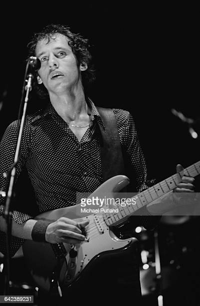 Singer and guitarist Mark Knopfler performing with British rock group Dire Straits USA March 1979