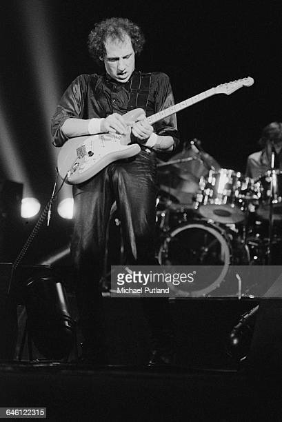Singer and guitarist Mark Knopfler performing with British rock group Dire Straits New York September 1979