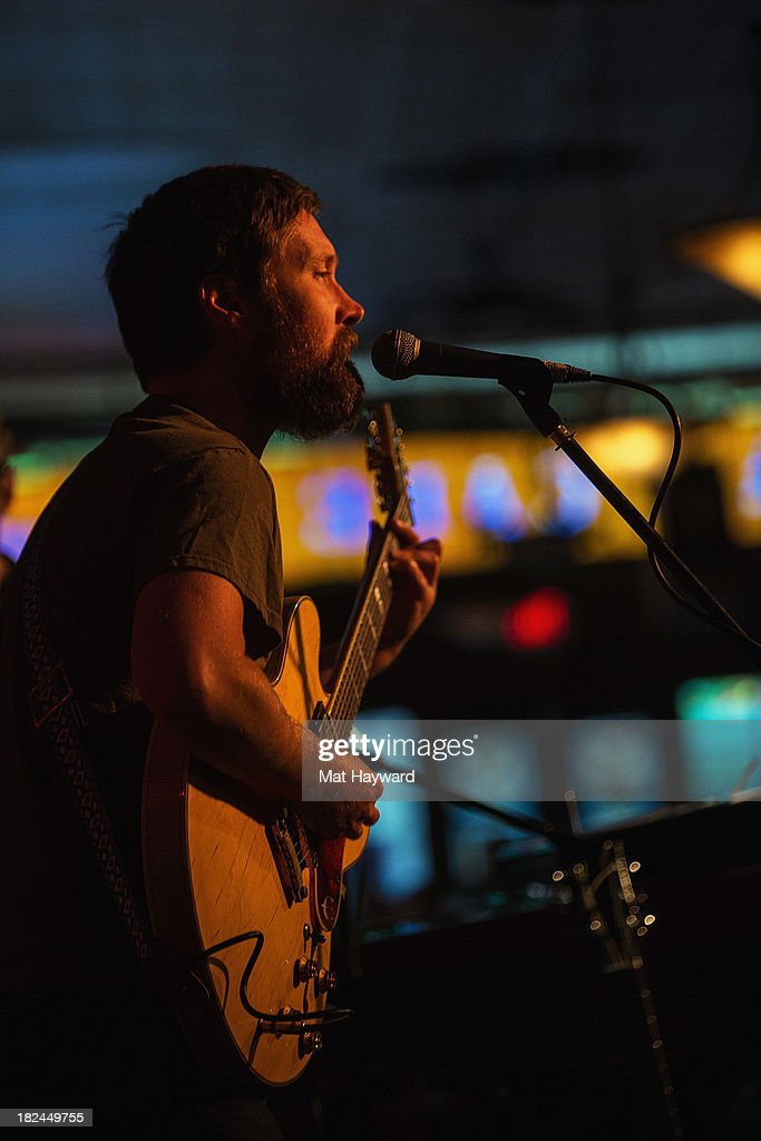 Singer and guitarist Matt Pelham of the Features performs during an EndSession hosted by 107.7 The End at the J&M Cafe on September 29, 2013 in Seattle, Washington.