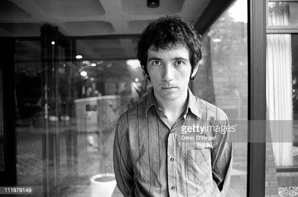 Singer and guitarist Pete Shelley of The Buzzcocks offstage in Belfast 1978